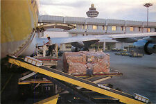Loading Cargo at Changi Airport ~SINGAPORE~ Scarce CAAS Airline Issued Postcard