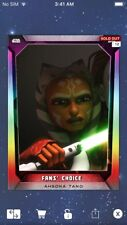 Topps Star Wars Digital Card Trader Ahsoka Tano Fan's Choice 5 Prism Insert