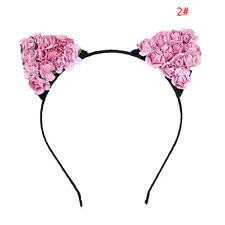 New Floral Cat Ears Headband Party Costume Head hair band Hair Accessory Gift