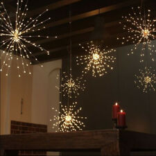 Fireworks 120LED Copper Wire String Light Strip Fairy Christmas Party Remote AT