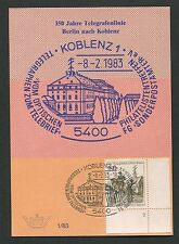 BERLIN MK 1983 693 FN 2 FORMNUMMER!! TELEGRAFIE KOBLENZ MAXIMUMKARTE RARE! d3536
