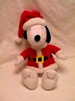 "Hallmark SANTA SNOOPY Super Cute 18"" Plush CHRISTMAS Doll Toy Figure Decoration"