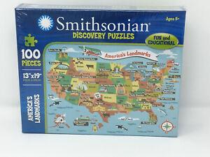 "Smithsonian Discovery 100 Piece 13 x 19"" Puzzle - America's Landmarks"