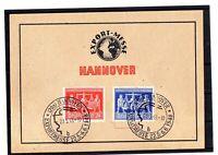 Alliierte Besetzung - Sonderkarte - Export Messe Hannover 1948 mit SST