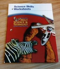 """Holt Science and Technology : Science Skills Worksheets (Paperback) """"NEW"""""""