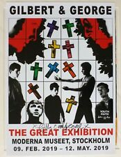 Gilbert and George - Youth faith  2019 SIGNED SWEDISH ART EXHIBITION POSTER #3