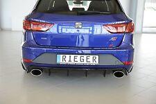 Heckeinsatz Diffusor schwarz Glanz Leon Cupra St Facelift 00088137 Rieger-tuning