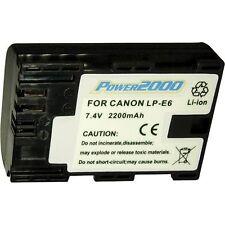 2 x Power2000 LP-E6 Battery for Canon 60D, 70D, 6D, 7D, 5D Mark II, 5D Mark III