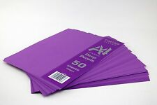 Craft UK Colour Vision 50 Deep Purple Coloured A4 Sheets 160gsm Card Craft Cards