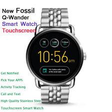 New Luxury Fossil Q Wander Gen 2 Stainless Steel Touchscreen Smartwatch (Unisex)