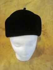 Vintage Black Cotillion Ladies Hat Felt Velour France Bling Stem Top
