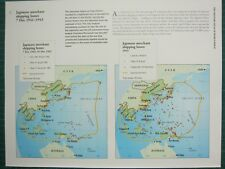 WW2 WWII MAP ~ JAPANESE MERCHANT SHIPPING LOSSES 7 DEC 1941-1943