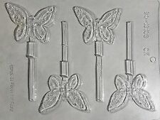 BUTTERFLY CHOCOLATE CANDY MOLD Lollipop girl pink birthday party