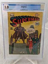 Superman #16 Golden Age 1942 Comic CGC Certified 3.0