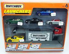 """MATCHBOX"" 1999 AUTO CARGO LAUNCHER SET w/ EXCLUSIVE EUROPEAN CARS PORSCHE MIB"