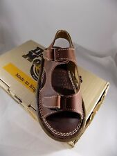New Vtg Dr Doc Martens Rust Kids Leather Sandals Unisex 6477 NOS UK 1 US Youth 2