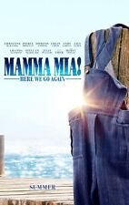 Mamma Mia Here We Go Again vg 27x40 Original D/S Movie POSTER