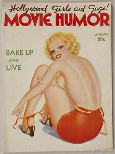 Art Deco Sept. 1937 Movie Humor Magazine Sunbathing Beauty George Quintana Cover
