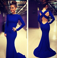 Women Formal Long Cocktail Party Dress Maxi Wedding Bridesmaid Evening Prom Gown