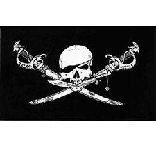 Brethren Of The Coast Skulls And Swords Black Polyester Flag 152cm x 91cm