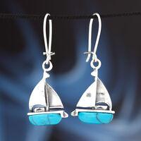 Türkis Silber 925 Ohrringe Damen Schmuck Sterlingsilber H349