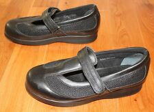 Black Leather Mary Janes Orthopedic Shoes 7 W Mesh T Strap DREW Desiree
