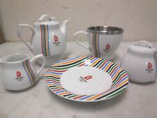 2008 Beijing Olympic Official Licensed White Silver Colored Stripes Tea Set IB