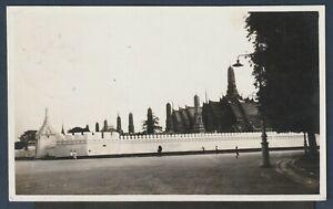 "Thailand to Switzerland 1929(?) nice picture postcard ""Wat Pra Keo"""