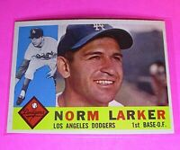 1960 Topps #394 Norm Larker Dodgers NmMt High Grade Sharp!