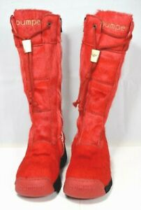 Giugiaro Bumper - Red Pony Hair Junior Boots (EU Size 31 / US Size 13) Youth/Kid