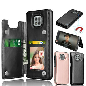 For Motorola Moto G Power/G Play/G stylus 2021 Leather Card Wallet Case Cover