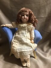 "Vintage Reproduction 15"" Bisque Head French composition wood Body Wig Doll WOW!"