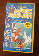 CS13> VHS - DISNEY 'S - MAGIC ENGLISH N.5 - ANIMAL FRIENDS : ANIMALI AMICI