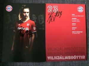 Handsignierte Autogrammkarte *VILHJALMSDOTTIR* Bayern München Damen 20/21 ZUGANG