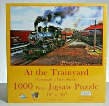 "Sunsout 1000 piece Puzzle. ""At the Trainyard"" NIB"