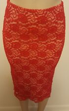 Brand New Lipstick Red Lacy Skirt by Material Girl ( the singer's company)