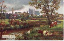 "WILTSHIRE* WILTON CHURCH, RIVER * F. KAMPTZ, ARTIST * TUCK ""OILETTE"" 7766 *P.6A"
