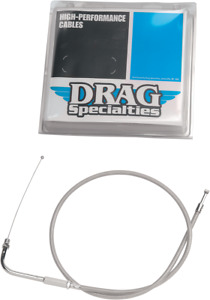 """Drag Specialties 30"""" Braided Throttle Cable - 0650-0291"""