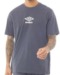 Umbro Mens Short Sleeve Jersey T Shirt Blue/White All Sizes new