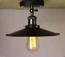 Industrial Retro Vintage Flush Mount Light Metal Shade Ceiling Pendant light LED