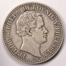 1832-A German States Prussia Thaler Silver Coin LOW MINTAGE Only 50,000 (L258)