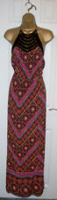 LADIES NEW LOOK HALTER NECK MAXI DRESS SIZE 12, Long Floral print summer Dress
