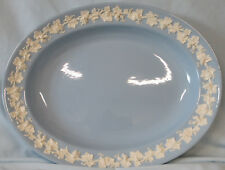"""Wedgwood Embossed Queen's Ware Lavender 12"""" Oval Platter"""