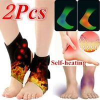 2x Magnetic Therapy Ankle Brace Support Heating Protection Belt Spontaneous New