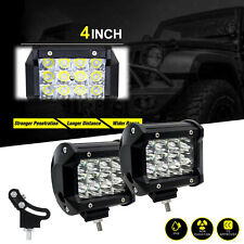 2X 4inch 36W LED Work Light Bar For 4WD Offroad Flood Fog ATV SUV Driving Lamp