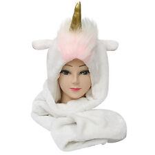 Sudadera con capucha Suave Capucha Unicornio magicorn Bufanda Sombrero mantener caliente cabeza cubierta con CAPUCHA REDECILLA