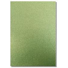 2 x A4 Fogli Di 220gsm Premium Dovecraft color tè verde glitter CARD