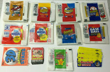 Lot of 414 Baseball Wax Wrappers from 1985 to 1989 of Topps Fleer & Donruss