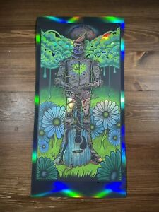 "Jim Mazza ""Tin Man"" Holographic Foil Art Print Poster Signed X/20 Avett Brothers"