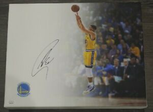 Stephen Curry Golden State Warriors Signed Autographed NBA 11x14 CANVAS BECKETT
